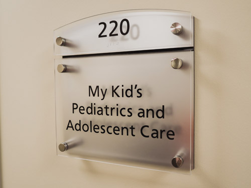 My Kids Pediatrics and Adolescent Care office plaque